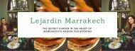 Restaurant Marrakech Medina - Lejardin