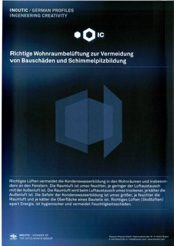 Lüftungshinweise - zur Vermeidung von Schwitzwasser - Harth ...