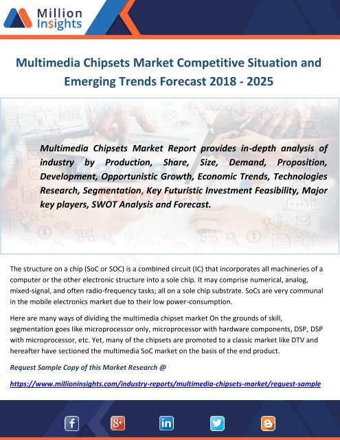 Multimedia Chipsets Market Competitive Situation and