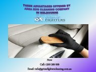Three Advantages Offered By Area Rug Cleaning Company In Melbourne