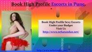 Book High Profile Escorts in Pune