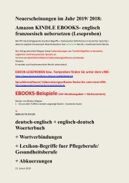 Ebook-Angebot: englisch franzoesisch uebersetzen + dolmetschen