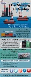 Shipping a Car to Zambia | Simmba Shipping