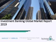 Investment Banking Global Market Report 2019