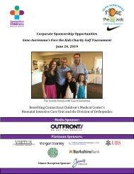 2019 Geno Auriemma Charity Golf Tournament Sponsorship Booklet