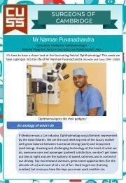 Surgeons of Cambridge #6 - Mr Narman Puvanachandra