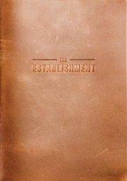 The Establishment Menu