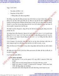 Tìm hiểu về máy HPLC, GC (Đối tượng thực tập sinh)