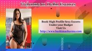 Book High Profile Escorts in Delhi