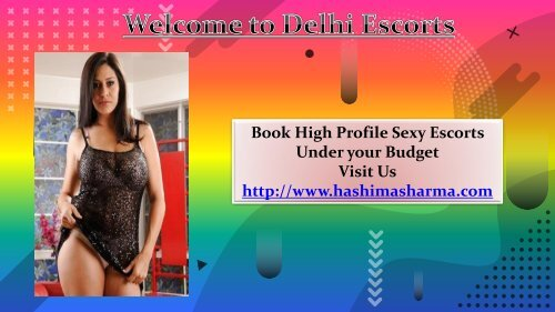 Book High Profile Escorts in Delhi
