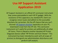 Use HP Support Assistant Application 2019