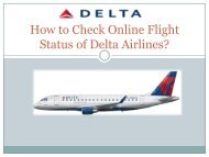 How to Check Online Flight Status of Delta Airlines
