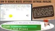 How to resolve McAfee Antivirus Software problems