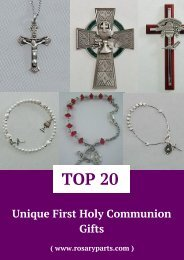 Unique First Holy Communion Gifts