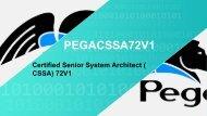 PEGACSSA72V1 Exam Braindumps Questions
