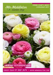 Mr Middleton Garden Shop Spring Plant & Bulb Catalog 2019