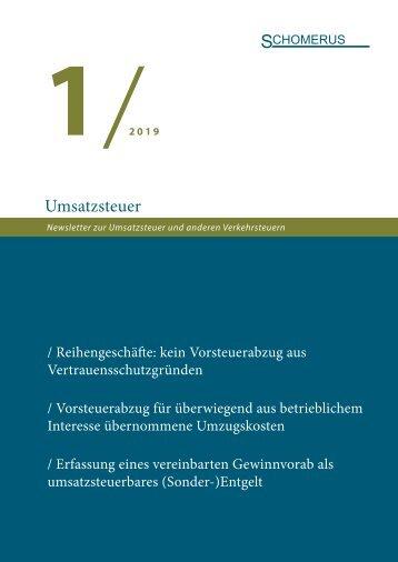 Umsatzsteuer 1/19