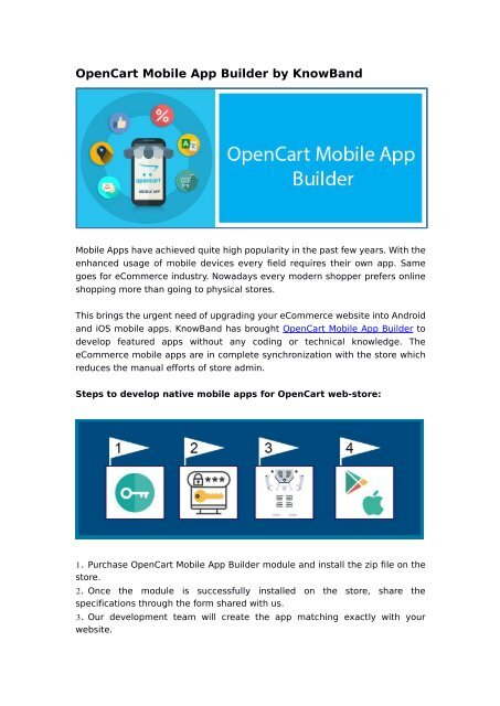OpenCart Mobile App Builder by KnowBand (New Update)