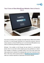 Top 3 Cons of Slow WordPress Website_ Here is How to Fix it