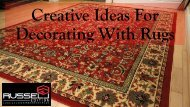 Few Tips For Decorating With Rugs