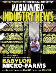 Maximum Yield's Industry News  |  Vol 18. Issue 02 2019