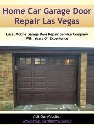 Home Car Garage Door Repair Las Vegas