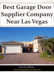 Best Garage Door Supplier Company Near Las Vegas