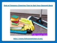 End of Tenancy Cleaning Tips