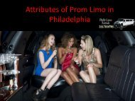 Attributes of Prom Limo in Philadelphia