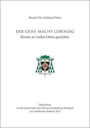 Hirtenbrief an die Gemeinden der Diözese Rottenburg-Stuttgart zur österlichen Bußzeit 2015