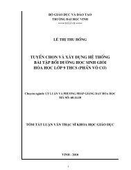 Tuyển chọn và xây dựng hệ thống bài tập bồi dưỡng học sinh giỏi hóa học lớp 9 THCS (phần vô cơ)