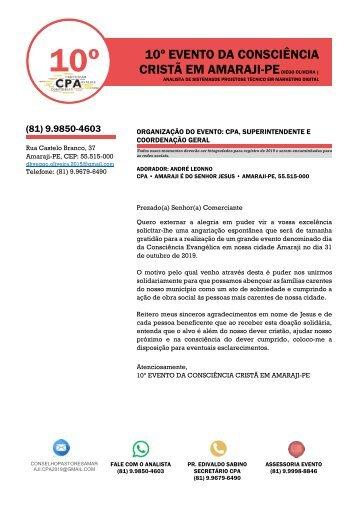 CONSCIÊNCIA EVANGÉLICA 2019 em Amaraji