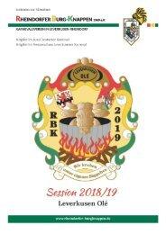 Rheindorfer Burgknappen - Sessionsheft 18-19