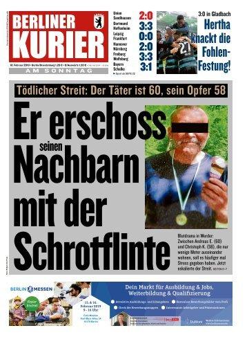 Berliner Kurier 10.02.2019