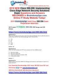 (2019-Feb-Version)New Braindump2go 300-206 VCE and 300-206 PDF Dumps Free Download(151-161)