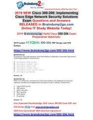 (2019-Feb-Version)New Braindump2go 300-206 VCE Dumps Free Download(129-139)