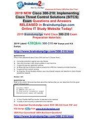 (2019-Feb-Version)New Braindump2go 300-210 PDF and 300-210 VCE Dumps Free Download(163-173)