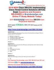 (2019-Feb-Version)New Braindump2go 300-210 VCE Dumps Free Download(130-140)