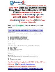(2019-Feb-Version)New Braindump2go 300-210 PDF and VCE Dumps Free Download(174-184)