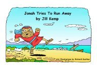 Jonah Tries to Run Away