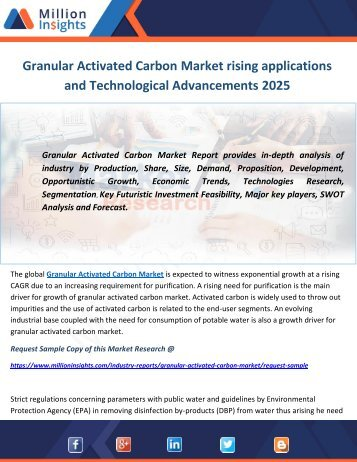 Granular Activated Carbon Market rising applications and Technological Advancements 2025
