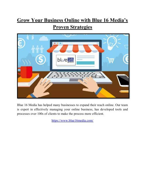 Grow Your Business Online with Blue 16 Media's Proven Strategies