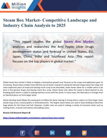 Steam Box Market- Competitive Landscape and Industry Chain Analysis to 2025
