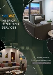 Interior Rendering Services: The 3D way for All