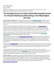 The Estridge Group Provides Award-Winning Resources for Amazon Employees Relocating to the Washington, DC Area