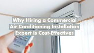 Why Hiring a Commercial Air Conditioning Installation Expert Is Cost-Effective?