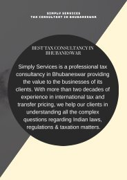 Best Tax Consultancy in Bhubaneswar