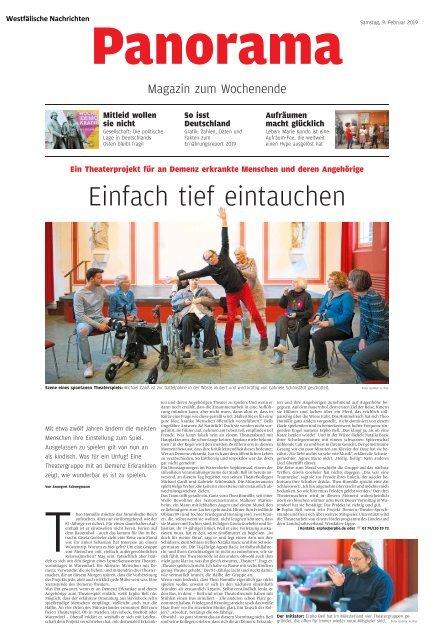 """Bericht """"Einfach tief eintauchen"""" – Westfälische Nachrichten 9. Februar 2019"""