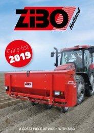 Zibo Prijslijst 2019 - EN