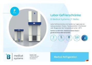 B Medical Systems Labor-Kühlschränke F Reihe